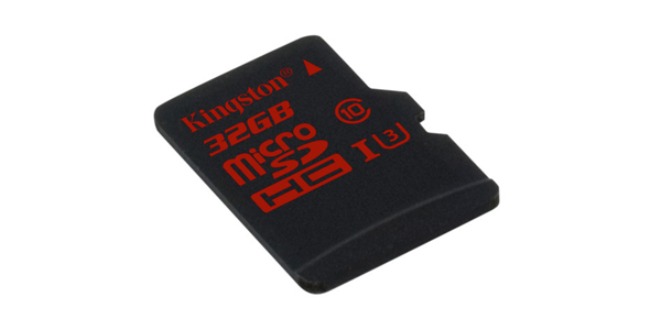 KINGSTON 32GB MICROSDHC UHSI CLASS U3SD ADAPTER