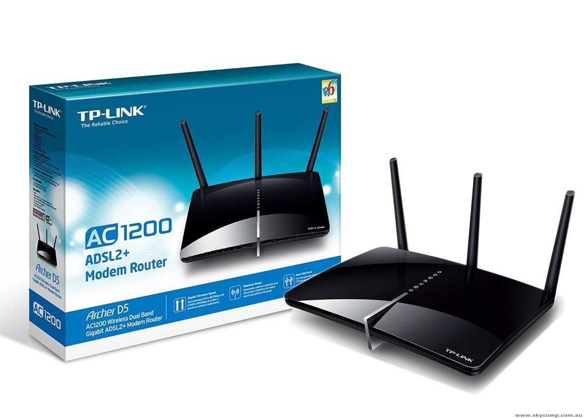 TPLINK AC1200 Wireless Dual Band Gigabit ADSL2 Router