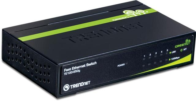 TRENDNET 5PORT 10/100 DESKTOP SWITCH METAL CASE
