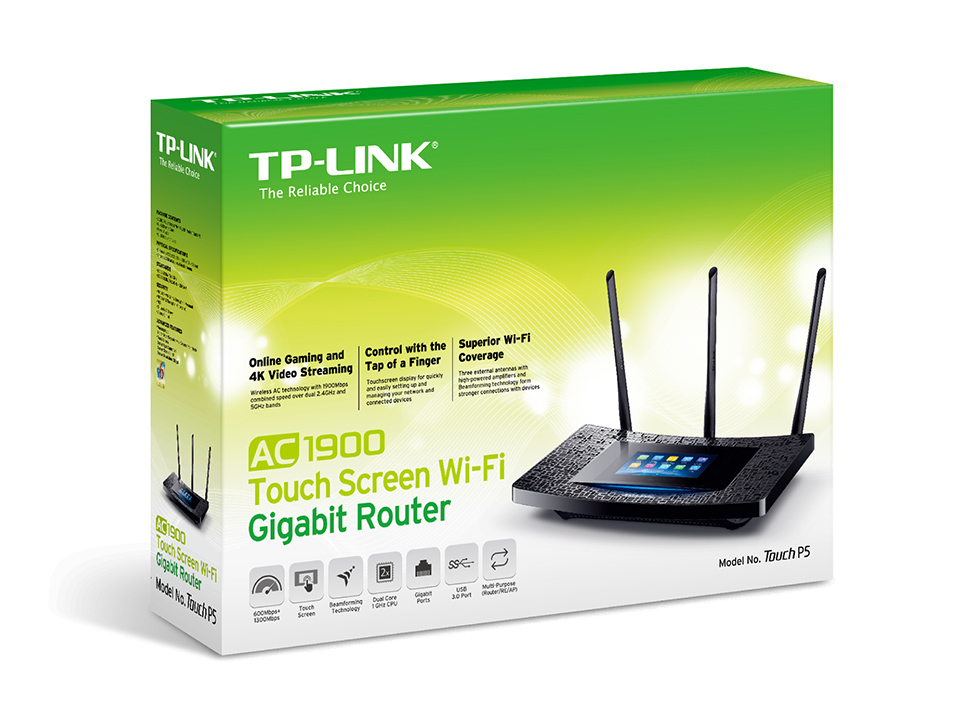 TPLINK AC1900 Touch Screen WiFi Gigabit Router