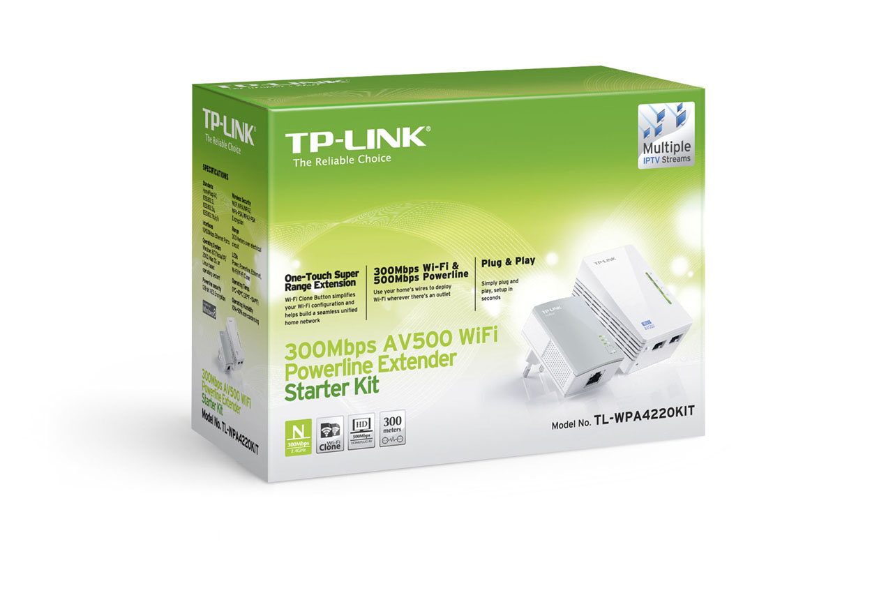 TPLINK 300Mbps Wireless N Powerline Extender Kit