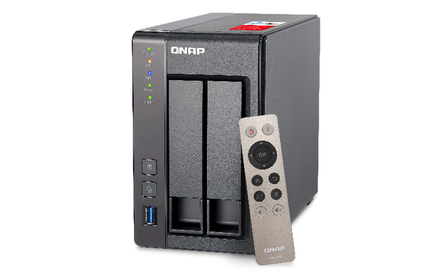 QNAP 2BAY NAS/INTEL CEL QC 2.0GHZ/2GB DDR3L