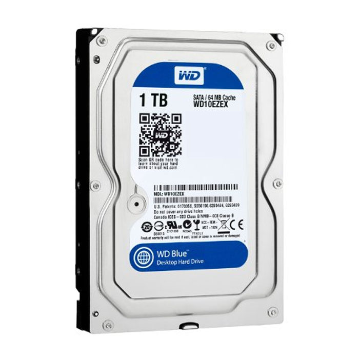 WD BLUE/HDD/1TB/3.5/SATA3/7200RPM/64MB CACHE