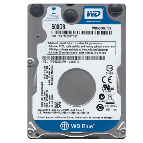 WD BLUE/HDD/500GB/2.5/SATA3/5400RPM/16MB CACHE/7M
