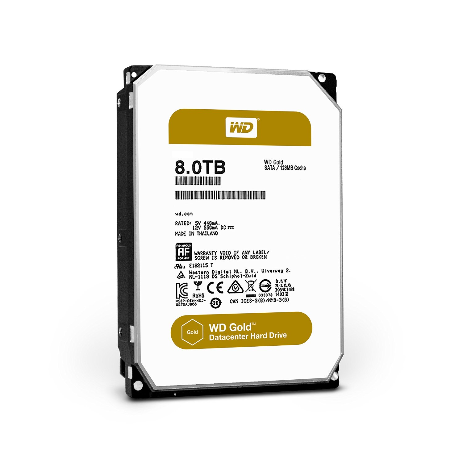 WD GOLD/HDD/8TB/3.5''/SATA3/7200RPM/128MB CACHE