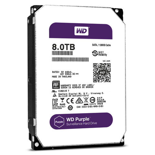 WD PURPLE NV/HDD/8TB/3.5/SATA3/128MB CACHE