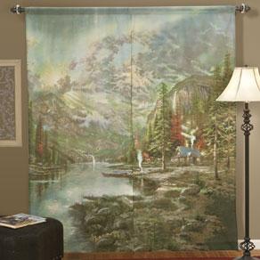 Thomas Kinkade Window Art Curtains by WalterDrake (Bargain Bin)