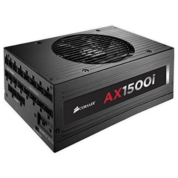 Corsair cp-9020057 AX1500i  , with ErP 0.5W for Haswell platform , Digital controlled power with DSP ( Digital Signal Processor ) , Real-time monitoring and control with Corsair Link , with self-test button - dual Eps12V , 19x full Modular cable managemen