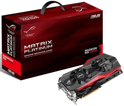 Asus MATRiX-R9290X-P-3GD5 - with 4x colors MATRIX LED Load Indicator , VGA Hotwire connects card and ROG board voltage regulators , DIGI VRM 14-phase Super Alloy digital power , LN2/STD mode switch  safe mode button , Japan-made black metallic capacitors