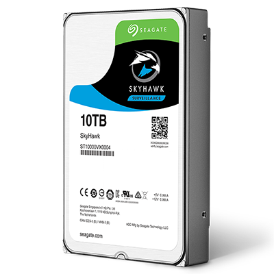 seagate ST10000VX0004 10Tb/10000Gb SV hdd ( SkyHawk ) , Sata6G , 256mb cache , 7200rpm , sustained data rate - 210mb/sec , designed for 24x7 digital video surveillance or business-critical applications - 3 years warrenty