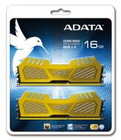 Adata AX3U1600W4G9-DGV XPG v2 , Yellow (gold) , 2oz Copper 8-layer PCB with TCT (Thermal Conductive Technology ) , 4Gb x 2 kit - support Intel XMP ( eXtreme Memory Profiles ) , ddr3-1600 , CL9 , 1.5v - 240pin - lifetime warranty