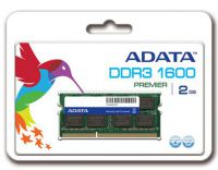 Adata AD3S1600C2G11-R , 2Gb so-dimm , 204 pin - DDR3-1600 , CL11 , 1.5V - lifetime warranty