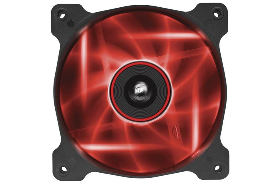 Corsair Co-9050015-RLED AF120 Quiet with Red led - 120x120x25mm , advanced hydraulic bearing , 9 blades , rubber corners for noise reduction , 1500rpm , 25.2dBA , 52.19CFM , 0.75 mm/H2o static pressure