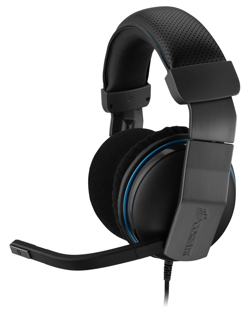 Corsair ca-9011124-ww vengence 1500V2 7.1 gaming headset ( all black ) - 50mm drivers with 24mm copper wound voice coils , Dolby ProLogic IIx headphone with noise-filtering mic , in-line control with volumemute  , soft plush fabric earcup covers with memo