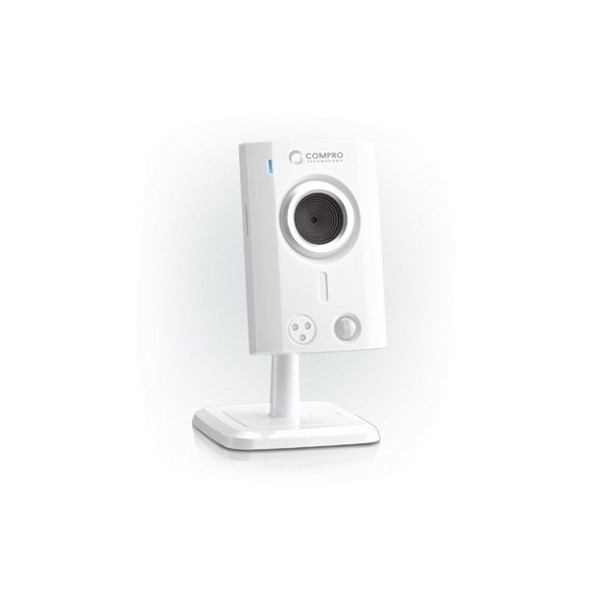 Compro TN30W cloud network camera ( iP camera ) , day and night under all light condition via built-in 3x iR LED , with C4Home Cloud App Service for tablet/ smart phone/ web browser , audio detection via dBA , 10/100 lan  802.11n wireless , 1/7 Cmos senso