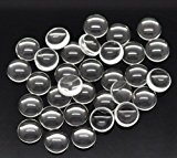 100 Clear Round Glass Dome Seals Cabochons 10mm